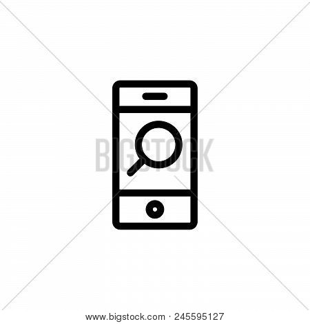 Mobile Seo Vector Icon On White Background. Mobile Seo Modern Icon For Graphic And Web Design. Mobil