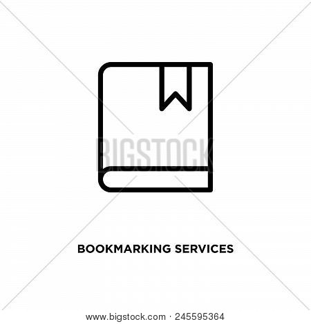 Bookmarking Services Vector Icon On White Background. Bookmarking Services Modern Icon For Graphic A