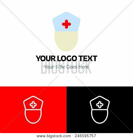 Nurse Logo Template Vector Icon On White Background. Nurse Logo Template Modern Icon For Graphic And