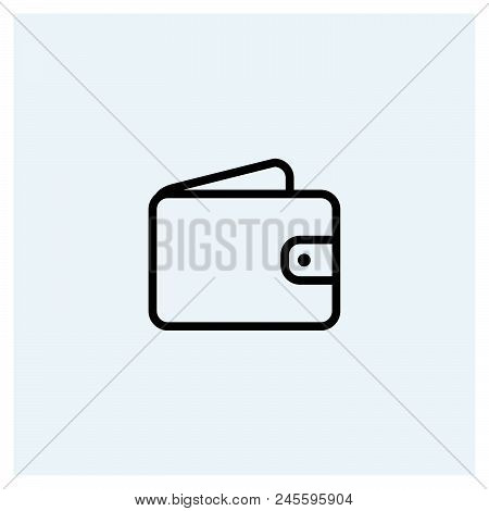 Wallet Icon Vector Icon On White Background. Wallet Icon Modern Icon For Graphic And Web Design. Wal