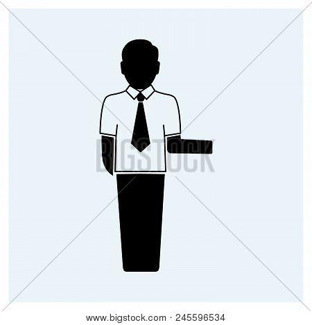 Businessman Icon Vector Icon On White Background. Businessman Icon Modern Icon For Graphic And Web D