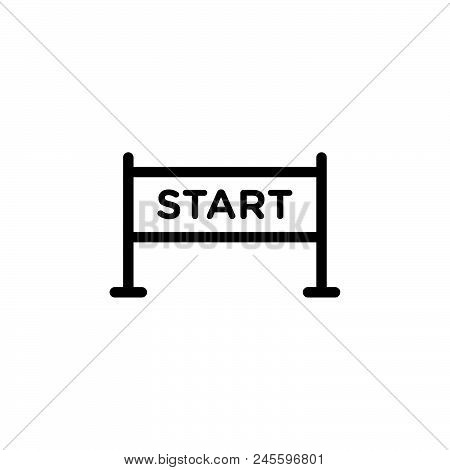 Start Vector Icon On White Background. Start Modern Icon For Graphic And Web Design. Start Icon Sign