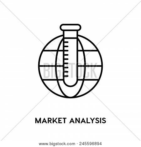 Market Analysis Vector Icon On White Background. Market Analysis Modern Icon For Graphic And Web Des