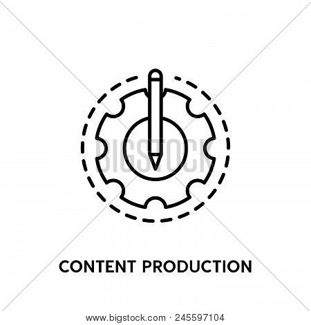 Content Production Vector Icon On White Background. Content Production Modern Icon For Graphic And W