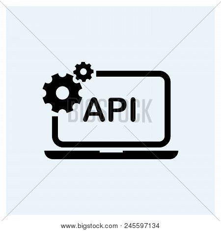 Api Icon Vector Icon On White Background. Api Icon Modern Icon For Graphic And Web Design. Api Icon