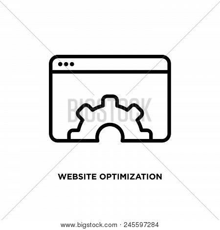 Website Optimization Vector Icon On White Background. Website Optimization Modern Icon For Graphic A