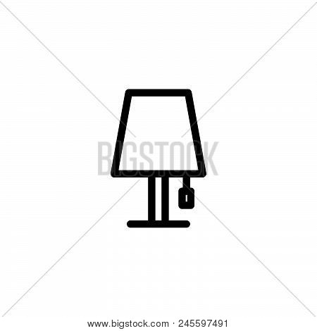 Lamp Vector Icon On White Background. Lamp Modern Icon For Graphic And Web Design. Lamp Icon Sign Fo