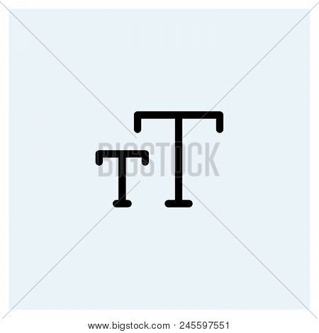 Text Icon Vector Icon On White Background. Text Icon Modern Icon For Graphic And Web Design. Text Ic