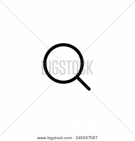 Search Vector Icon On White Background. Search Modern Icon For Graphic And Web Design. Search Icon S