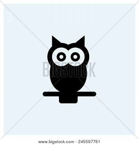 Owl Icon Vector Icon On White Background. Owl Icon Modern Icon For Graphic And Web Design. Owl Icon