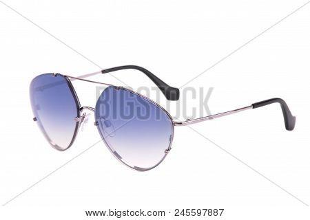 Aviator Glasses On White Background. Fashion Aviator Glasses On A White Background.