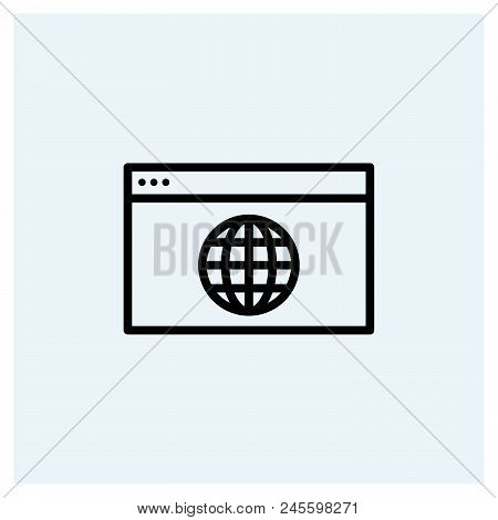 Website Icon Vector Icon On White Background. Website Icon Modern Icon For Graphic And Web Design. W