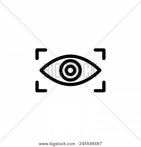 Eye Scan Vector Icon On White Background. Eye Scan Modern Icon For Graphic And Web Design. Eye Scan