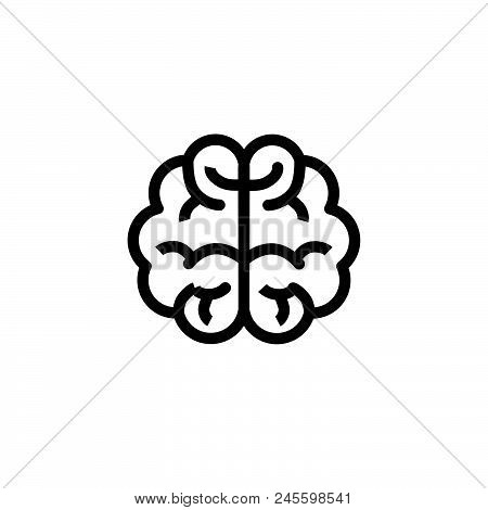 Brain Vector Icon On White Background. Brain Modern Icon For Graphic And Web Design. Brain Icon Sign