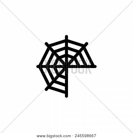 Spider Web Vector Icon On White Background. Spider Web Modern Icon For Graphic And Web Design. Spide