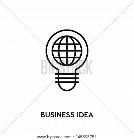 Business Idea Vector Icon On White Background. Business Idea Modern Icon For Graphic And Web Design.