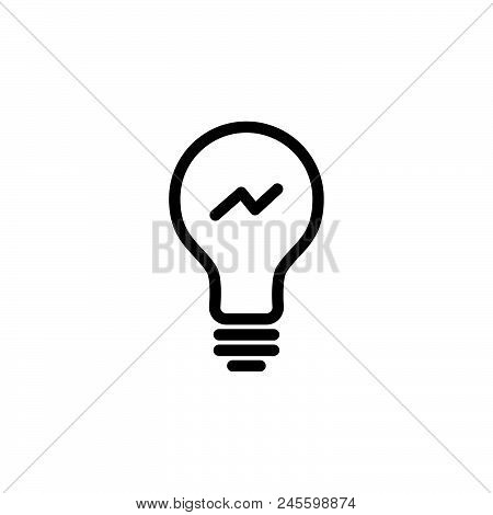 Bulb Energy Vector Icon On White Background. Bulb Energy Modern Icon For Graphic And Web Design. Bul
