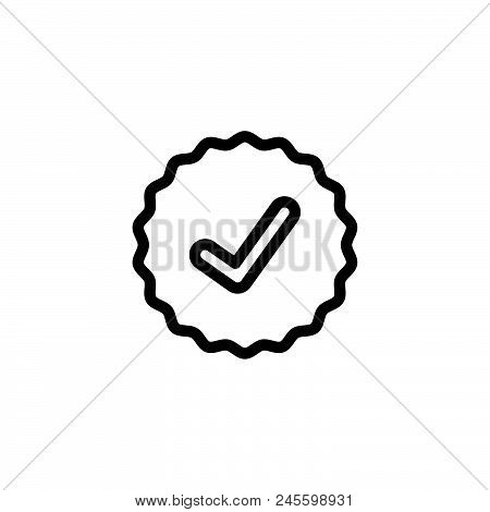 Approve Vector Icon On White Background. Approve Modern Icon For Graphic And Web Design. Approve Ico