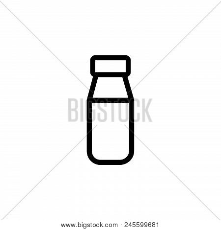 Milk Bottle Vector Icon On White Background. Milk Bottle Modern Icon For Graphic And Web Design. Mil