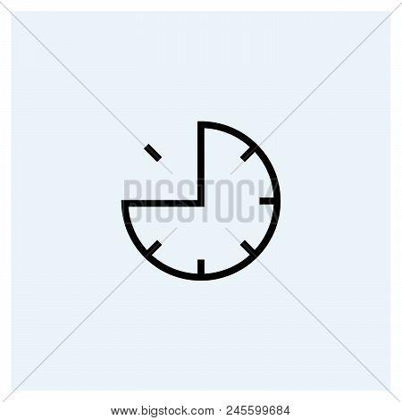 Quarter Time Icon Vector Icon On White Background. Quarter Time Icon Modern Icon For Graphic And Web