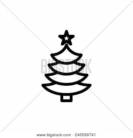 Christmas Tree Icon.Christmas Tree Vector Vector Photo Free Trial Bigstock