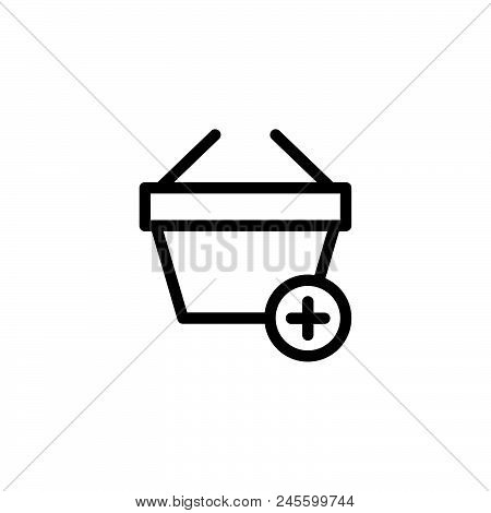 Add To Bag Vector Icon On White Background. Add To Bag Modern Icon For Graphic And Web Design. Add T