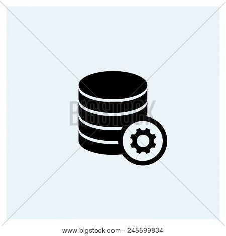 Set Database Icon Vector Icon On White Background. Set Database Icon Modern Icon For Graphic And Web