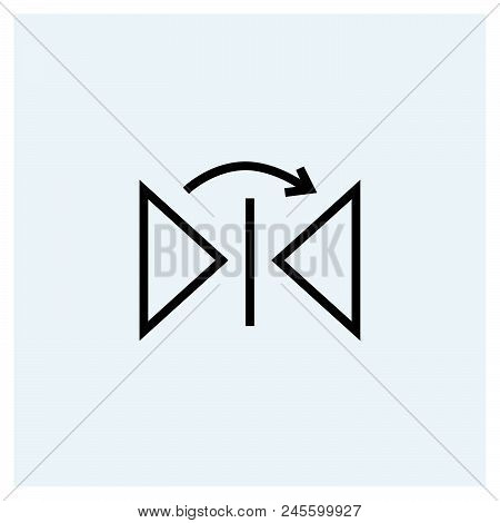 Flip Horizontal Icon Vector Icon On White Background. Flip Horizontal Icon Modern Icon For Graphic A