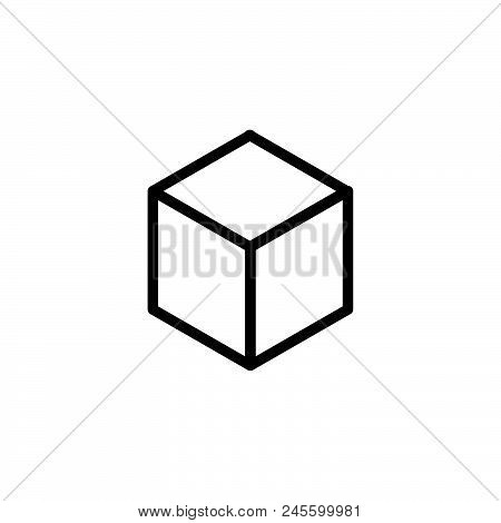 3d Square Vector Icon On White Background. 3d Square Modern Icon For Graphic And Web Design. 3d Squa