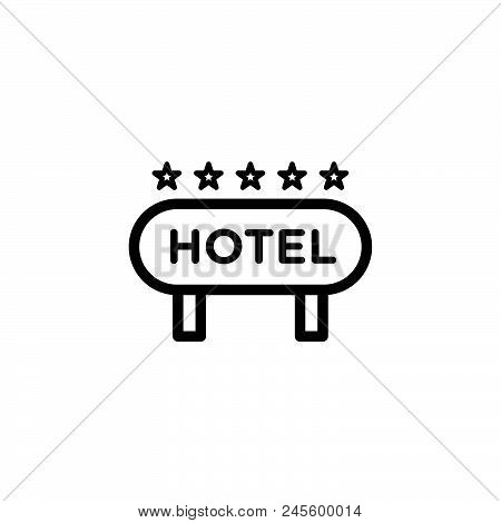 Hotel Vector Icon On White Background. Hotel Modern Icon For Graphic And Web Design. Hotel Icon Sign