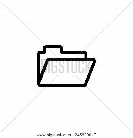 Folder Vector Icon On White Background. Folder Modern Icon For Graphic And Web Design. Folder Icon S