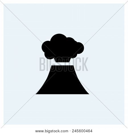 Volcano Icon Vector Icon On White Background. Volcano Icon Modern Icon For Graphic And Web Design. V