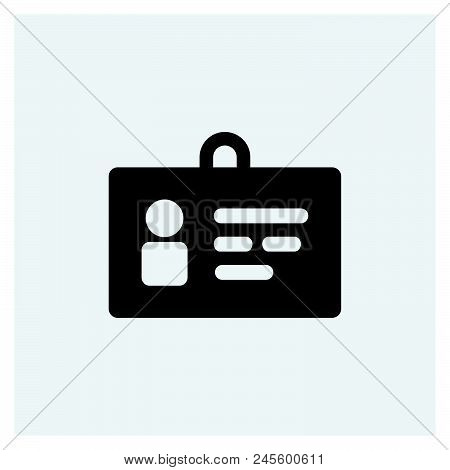 Id Card Icon Vector Icon On White Background. Id Card Icon Modern Icon For Graphic And Web Design. I