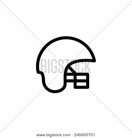 Helmet Vector Icon On White Background. Helmet Modern Icon For Graphic And Web Design. Helmet Icon S
