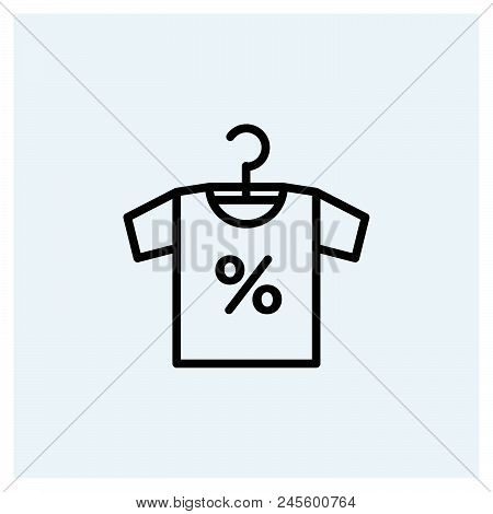 Clothes Sale Icon Vector Icon On White Background. Clothes Sale Icon Modern Icon For Graphic And Web