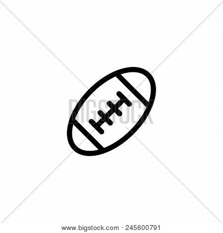 American Football Vector Icon On White Background. American Football Modern Icon For Graphic And Web