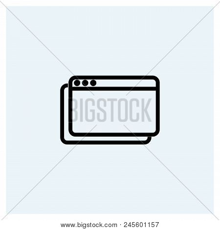 Web Browser Icon Vector Icon On White Background. Web Browser Icon Modern Icon For Graphic And Web D