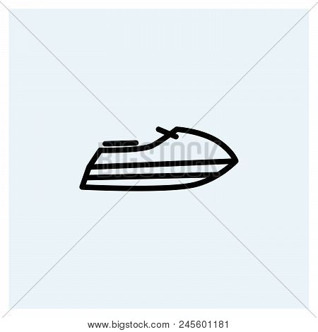 Jet Ski Icon Vector Icon On White Background. Jet Ski Icon Modern Icon For Graphic And Web Design. J