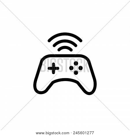 Wireless Joystick Vector Icon On White Background. Wireless Joystick Modern Icon For Graphic And Web