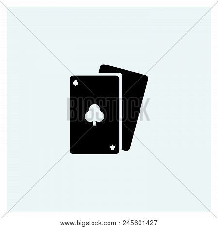 Poker Icon Vector Icon On White Background. Poker Icon Modern Icon For Graphic And Web Design. Poker