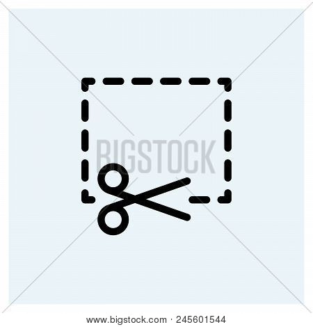 Coupon Cutting Icon Vector Icon On White Background. Coupon Cutting Icon Modern Icon For Graphic And