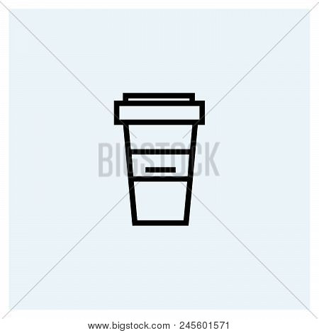 Coffee Icon Vector Icon On White Background. Coffee Icon Modern Icon For Graphic And Web Design. Cof