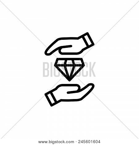 Protect Diamond Vector Icon On White Background. Protect Diamond Modern Icon For Graphic And Web Des