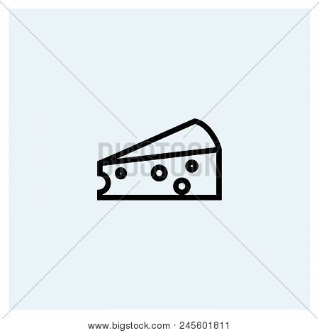 Cheese Icon Vector Icon On White Background. Cheese Icon Modern Icon For Graphic And Web Design. Che