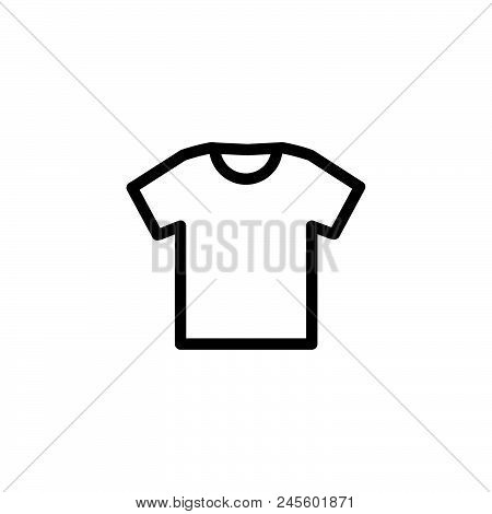 Tshirt Vector Icon On White Background. Tshirt Modern Icon For Graphic And Web Design. Tshirt Icon S