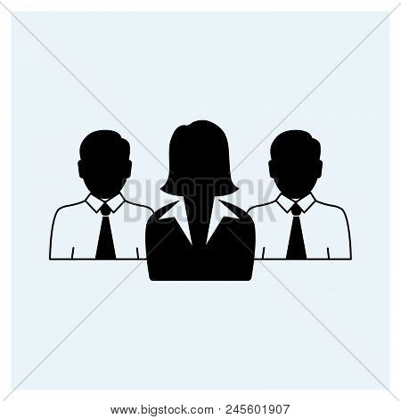 Business Team Icon Vector Icon On White Background. Business Team Icon Modern Icon For Graphic And W