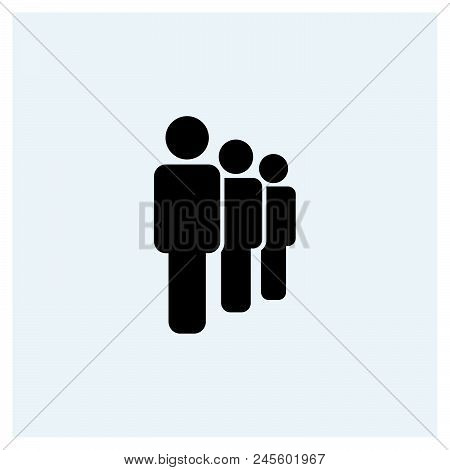 Human Row Icon Vector Icon On White Background. Human Row Icon Modern Icon For Graphic And Web Desig
