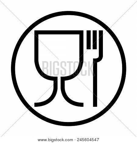 Food Safe Symbol. The International Icon For Food Safe Material Are A Wine Glass And A Fork Symbol.