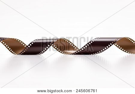 35mm Photo Film Rolls. Isolated On White Background.