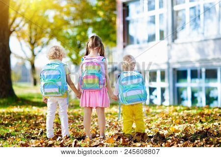 Kids Go Back To School. Child At Kindergarten.